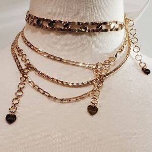 Aldo Jewelry - ⚡2/$25 ALDO Gold-tone 3 piece choker necklace NEW